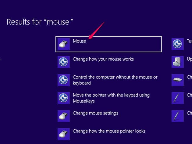 Searching for Mouse on Windows 8