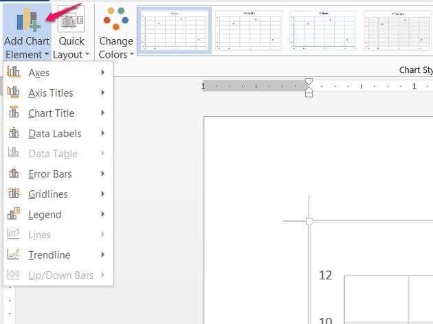 Add Chart Element menu.