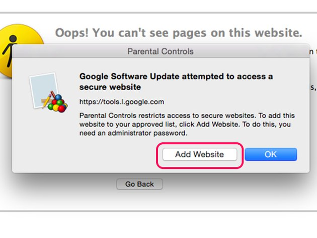 Add websites when prompted.