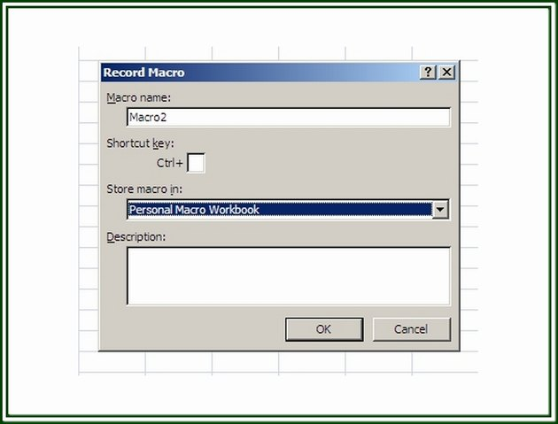 On the Record Macro dialog box, a workbook can be stored as a Personal Macro Workbook