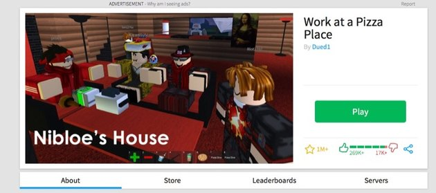 Viewing Roblox games.