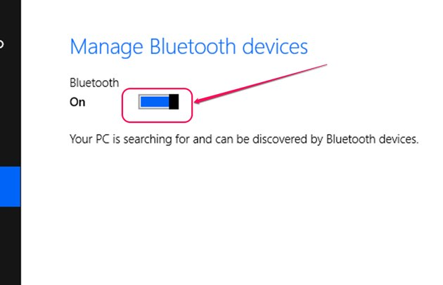 Bluetooth Enable Switch