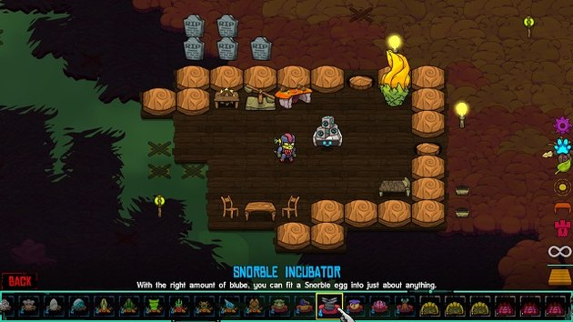 Crashlands features three biomes: Savannah, Bawg, and Tundra.