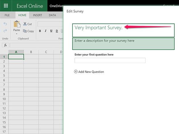 Enter a title for the survey.