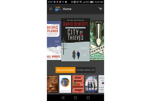 Screenshot of Kindle