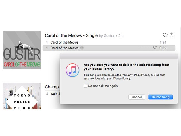 Delete the ringtone from the iTunes library.