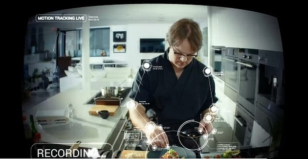 a chef video captured by a robot