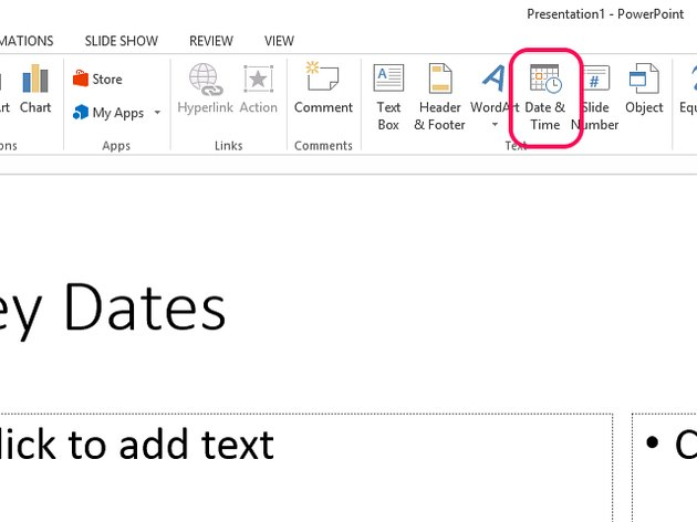 Select Date & Time to see a list of date formats.