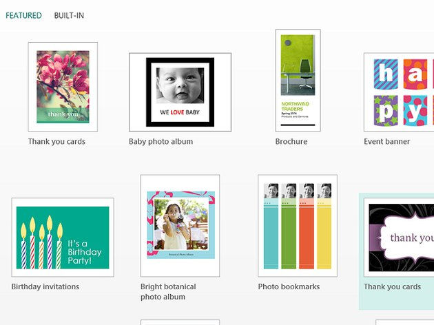 Publisher templates offer a wide variety of choices.