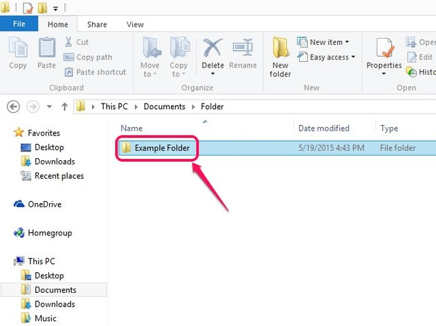 You can use Windows File Explorer to browse to the folder icon.
