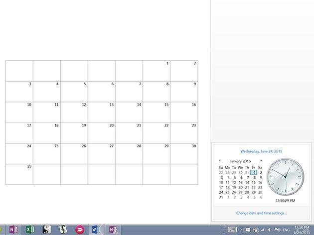 Insert 28 to 31 dates.