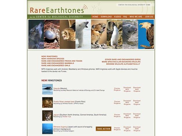 Center for Biological Diversity free ringtones