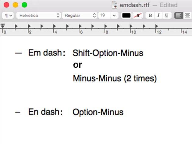 The em dash is longer than the en dash.