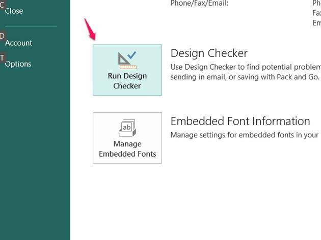Run the Design Checker.
