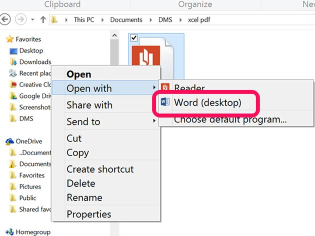 Right-clicking a PDF in File Explorer