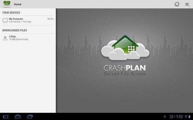 CrashPlan screenshot