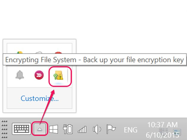 Click the Encrypting File System icon.