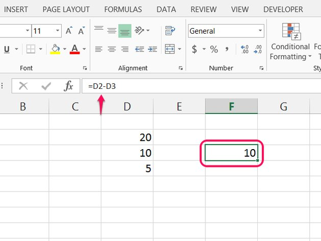 Click the Formula Bar or press F2 to edit the equation later.