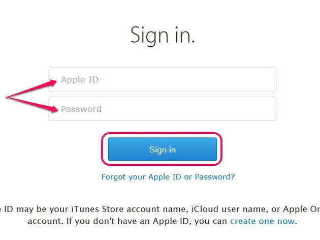 Click Forgot Your Apple ID or Password to recover your Apple ID credentials.