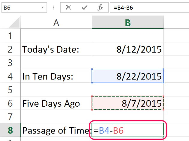 Subtract the earlier date from the later date.