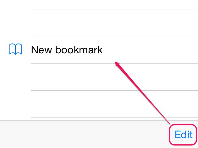 Edit a bookmark
