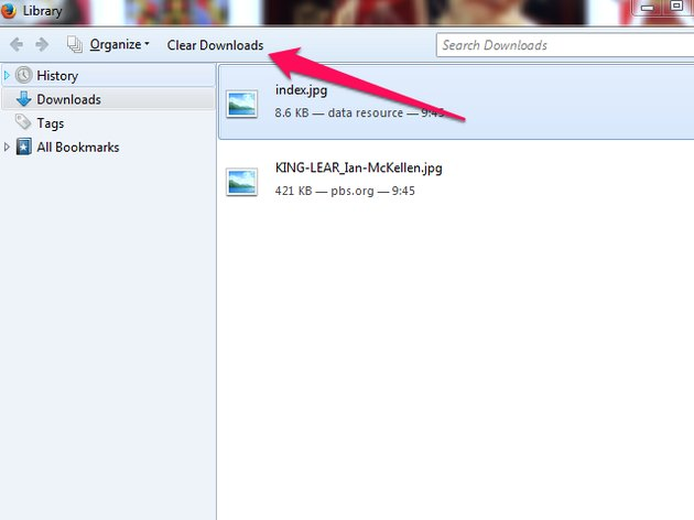 Click the Open Containing Folder icon to access the directory containing the downloaded file.
