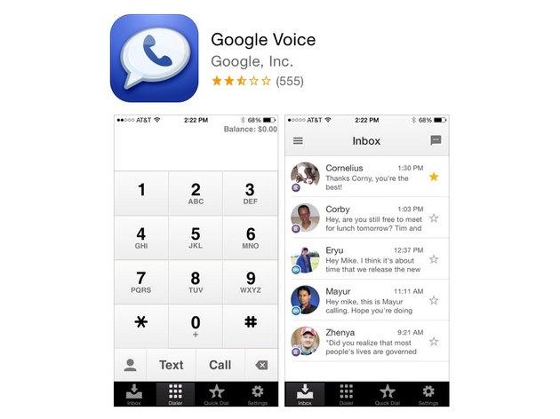 Google Voice app in the App Store.
