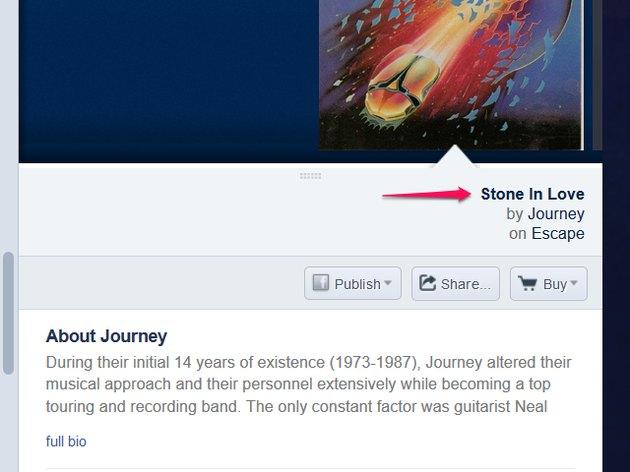 Pandora main page.