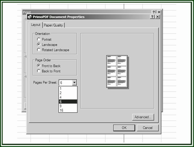 The Printer Properties dialog box.