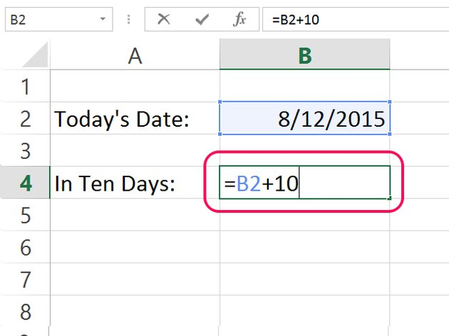Add days to the current date.
