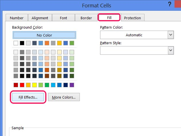 You can't combine a two-color effect with a pattern, so leave the Pattern Style blank.