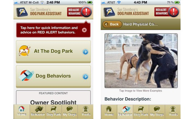 Screenshot from Dog Park Assistant