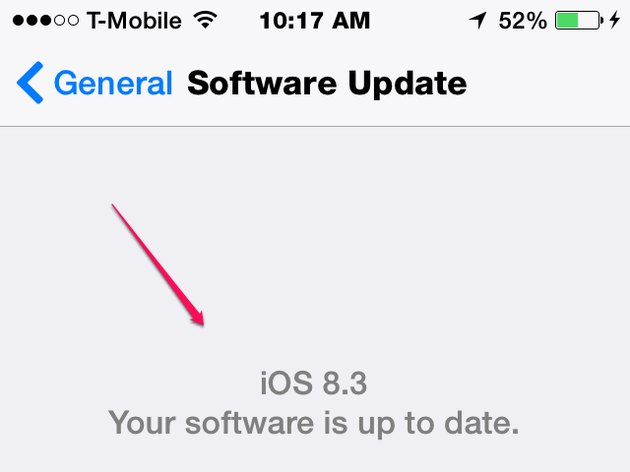 Make Sure Your iOS is Updated