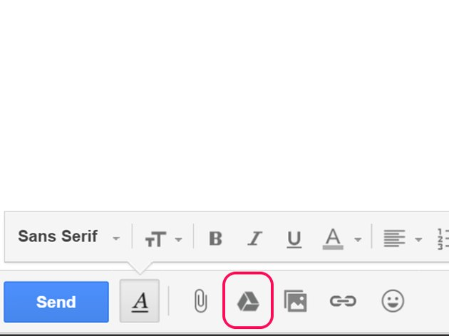 Click the Google Drive icon below your message.