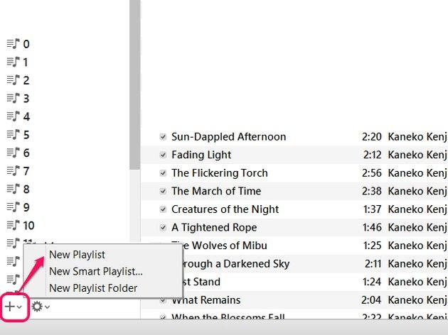 New Playlist button