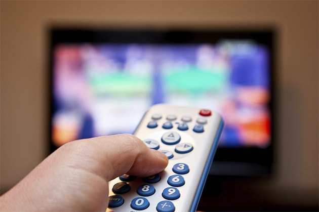 A TV and remote control