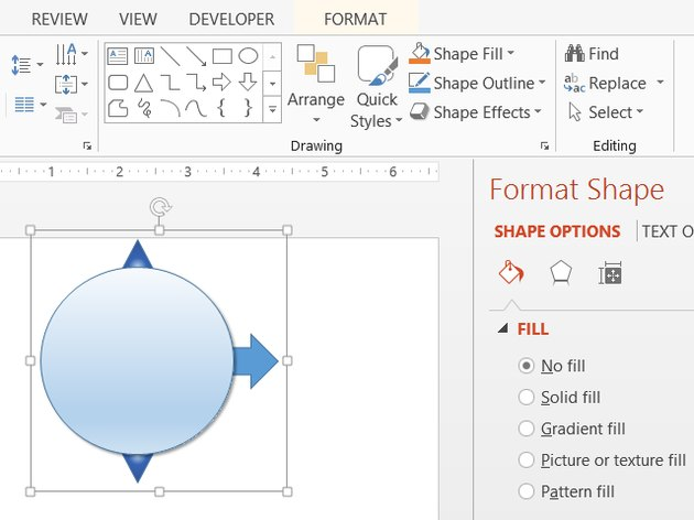 PowerPoint shapes snap together to help you line up multiple items.