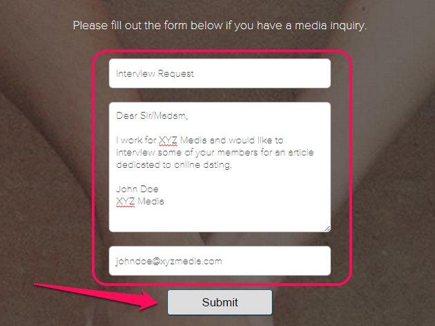 EHarmony Media Inquiries page.