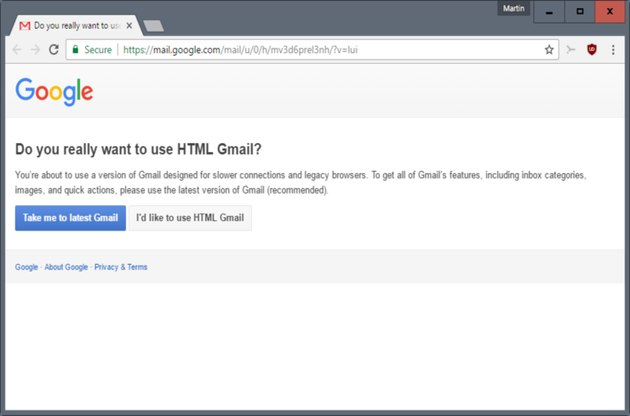 Gmail with HTML message