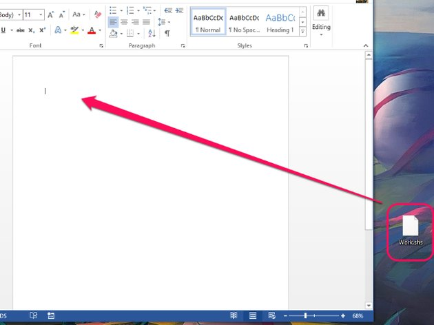 Windows 8 and Word 2013.