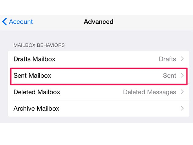 Change email folder settings on an iPad