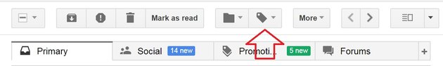 Select the label icon in the top menu bar.