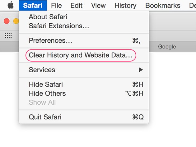 How to delete history and website data in Safari