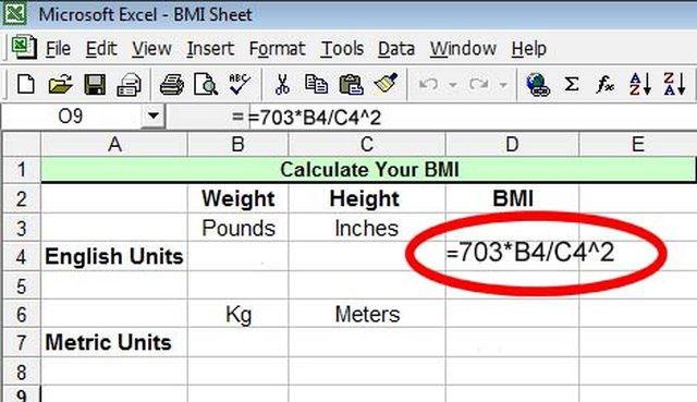 metric bmi calculation
