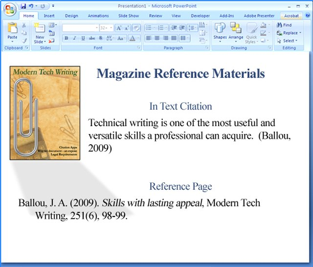 referencing in powerpoint