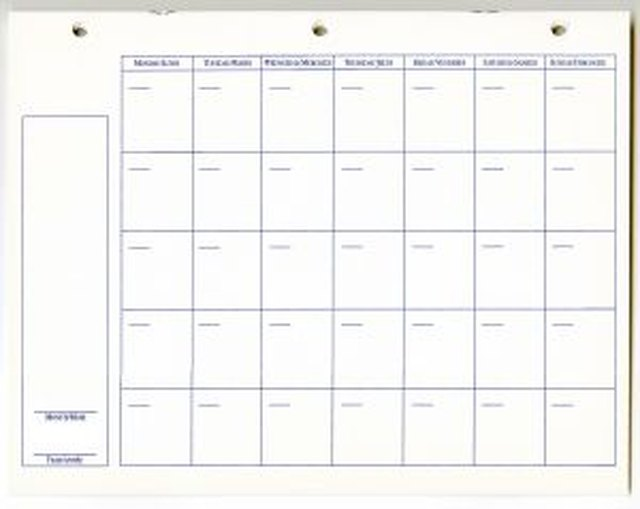 make your own calendar template