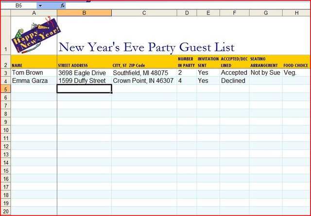How To Make A Guest List On An Excel Template Techwalla