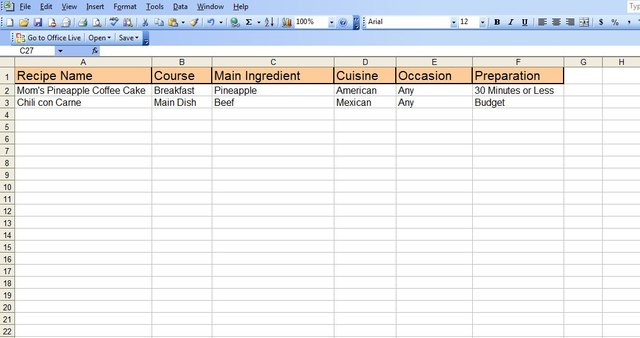 How To Create An Excel Recipe Spreadsheet Techwalla