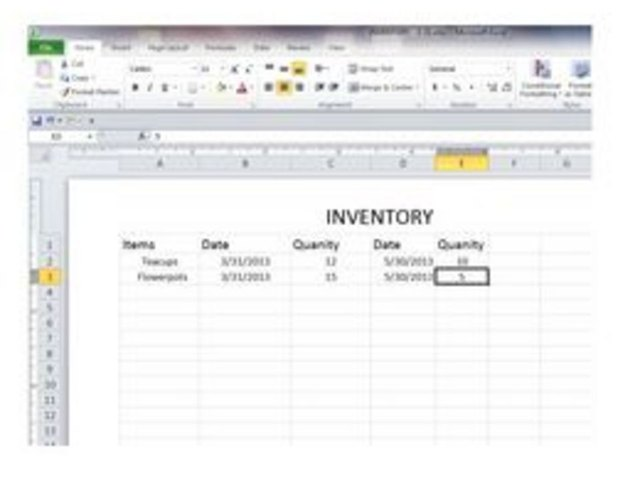 How To Create A Basic Inventory Spreadsheet With Excel Techwalla