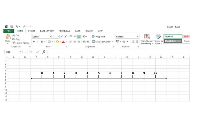 Drawing Lines Using Arrow Keys Java : How to make a number line in excel techwalla